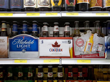 Which province pays most for a case of beer?