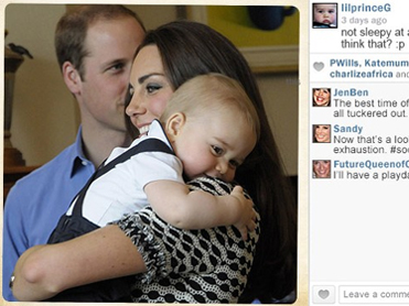 If Prince George had his own Instagram feed