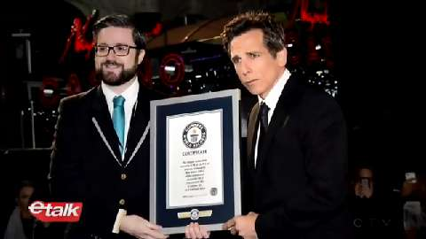 Ben Stiller just broke a really, really, ridiculously odd world record