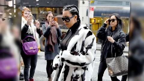 Kim Kardashian channels Cruella De Vil while out and about