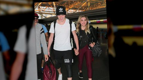 Were Chloe Grace Moretz and Brooklyn Beckham stranded at the airport?