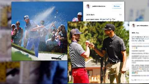 Justin Timberlake was slapped by a fan at a charity golf event
